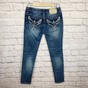 Miss Me Signature Skinny Dark Wash Bedazzled Jeans